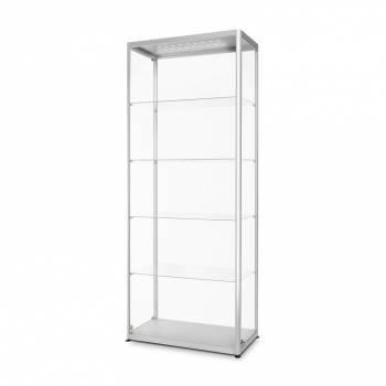 Witryna szklana z oświetleniem LED 800x2000x400mm z drzwiami