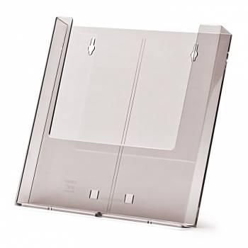 Stojak na ulotki formatu A4 do powieszenia na ścianie - z podstawką