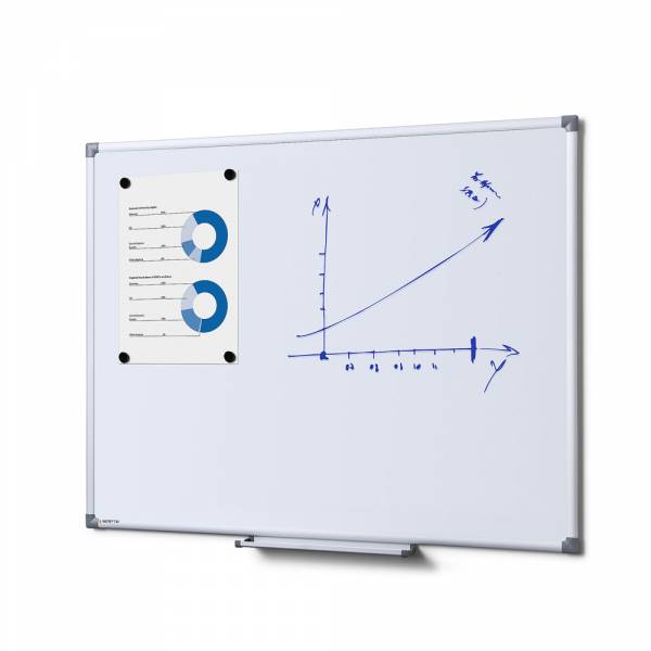Emaliowana, magnetyczna tablica suchościeralna 90x60 cm