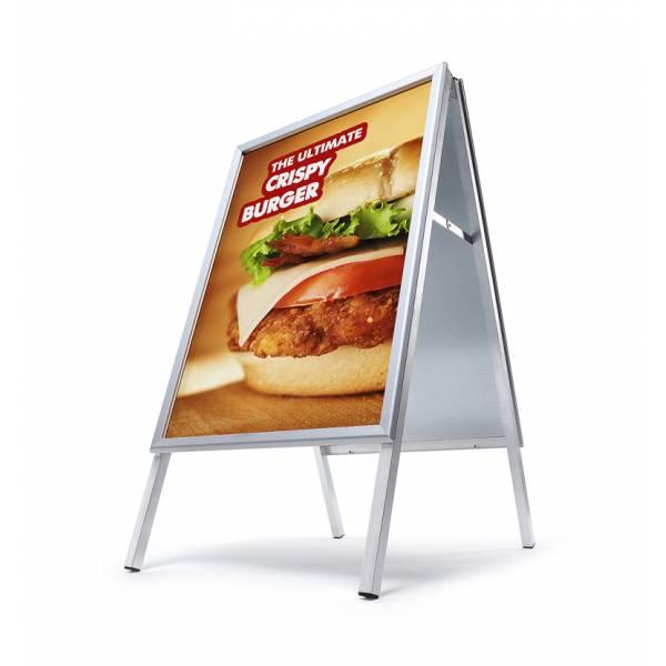 Potykacz reklamowy 70x100cm, profil 32mm, narożniki ostre
