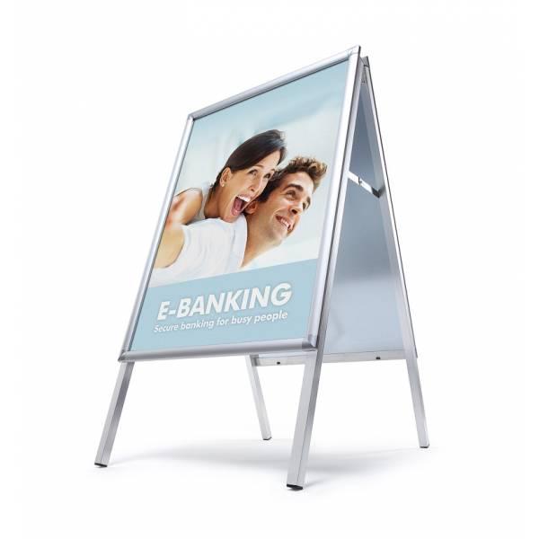 Potykacz reklamowy 50x70cm, profil 30mm, narożniki zaokrąglone