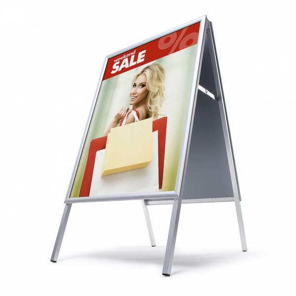 Potykacz reklamowy 70x100cm, profil 25mm, narożniki ostre