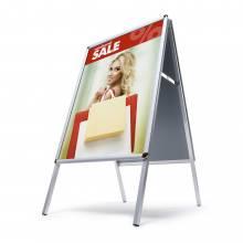 Potykacz reklamowy A2, profil 25 mm, narożniki zaokrąglone