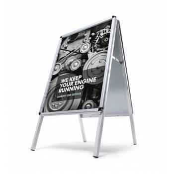 Potykacz reklamowy 50x70cm, profil 32mm, narożniki zaokrąglone - wodoodporny