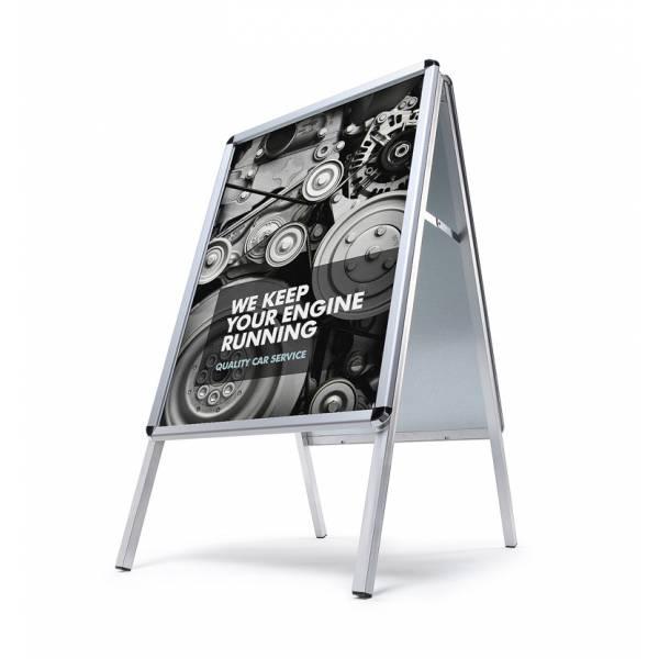 Potykacz reklamowy A0, profil 32mm, narożniki zaokrąglone - wodoodporny
