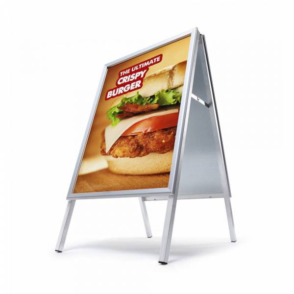 Potykacz reklamowy A1, profil 32mm, narożniki ostre - wodoodporny