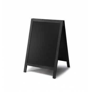 Solidny drewniany potykacz 55x85 /  czarny