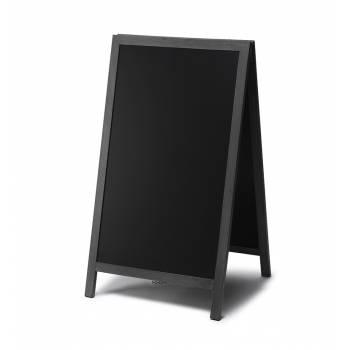 Solidny drewniany potykacz 68x120 /  czarny