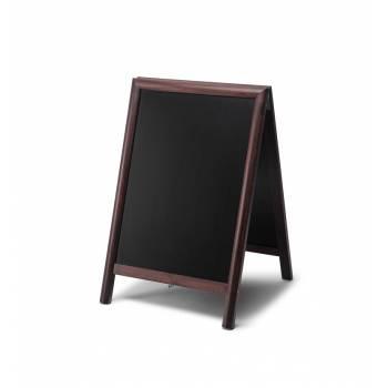 Solidny drewniany potykacz 55x85 /  ciemny brąz