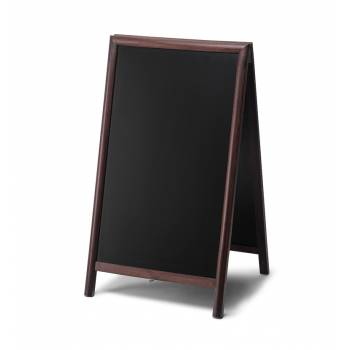 Solidny drewniany potykacz 68x120 /  ciemny brąz