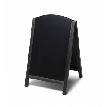 Potykacz drewniany 55x85 z wyciąganym panelem / czarny