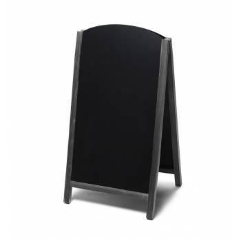 Potykacz drewniany 68x120 z wyciąganym panelem / czarny