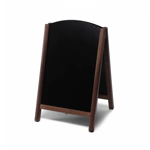 Potykacz drewniany 55x85 z wyciąganym panelem / ciemny brąz