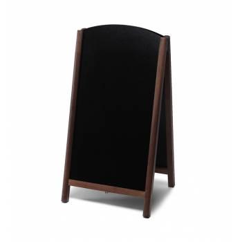 Potykacz drewniany 68x120 z wyciąganym panelem / ciemny brąz
