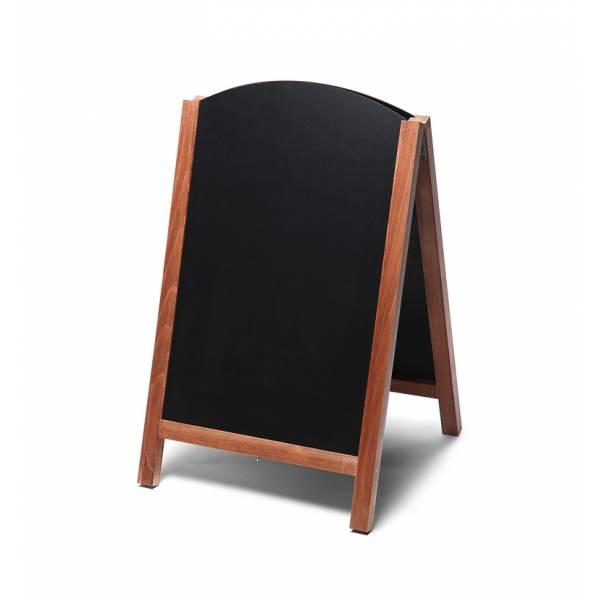 Potykacz drewniany 55x85 z wyciąganym panelem / jasny brąz