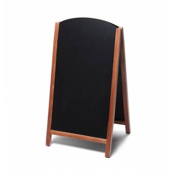 Potykacz drewniany 68x120 z wyciąganym panelem / jasny brąz