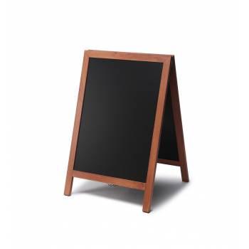 Solidny drewniany potykacz 55x85 /  jasny brąz