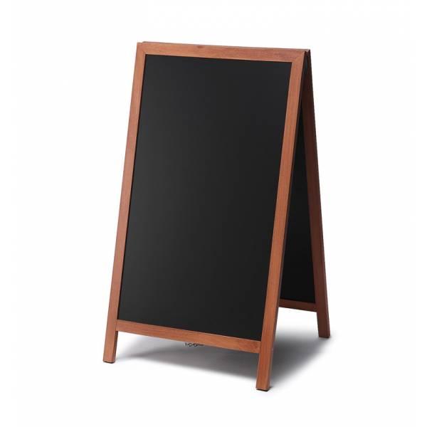 Solidny drewniany potykacz 68x120 /  jasny brąz