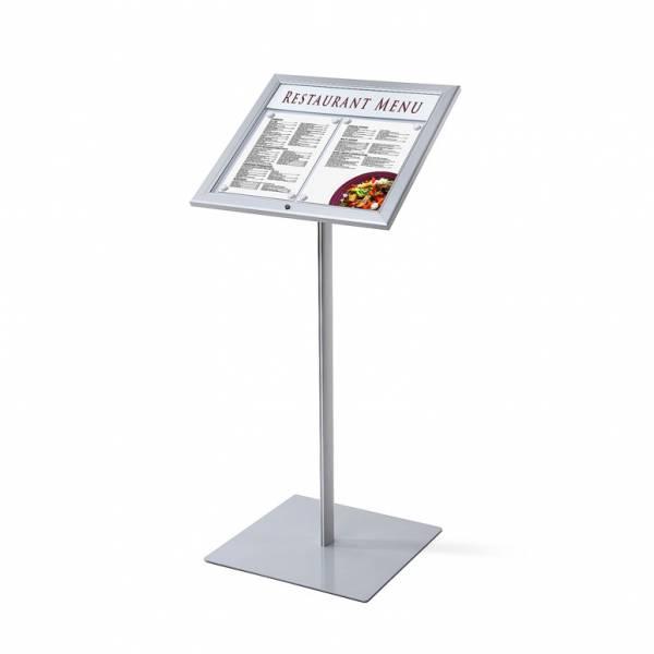 Stojak na menu z zamykaną gablotą / LED
